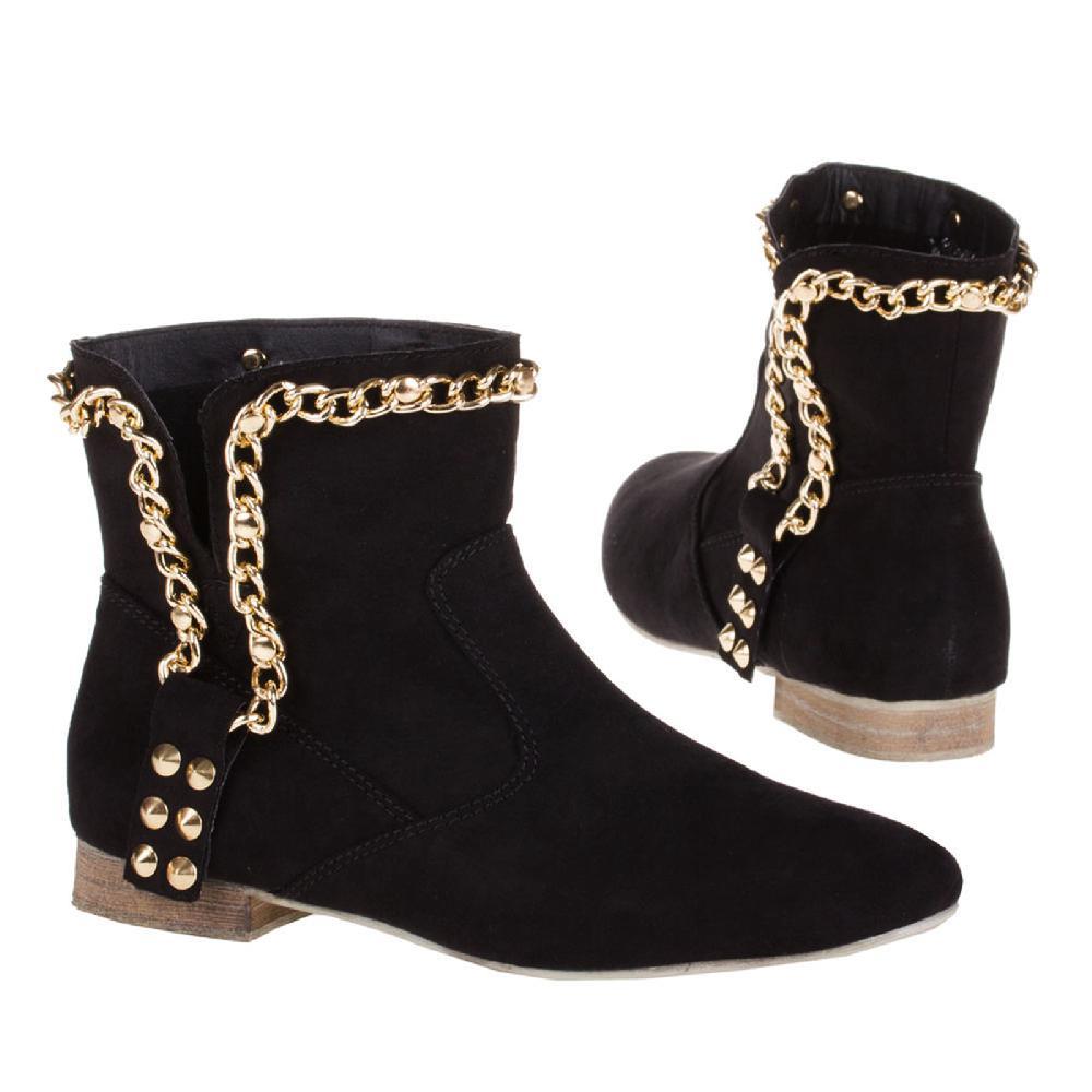 neu damen stiefeletten ankle boots schl pfer schuhe. Black Bedroom Furniture Sets. Home Design Ideas